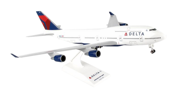 SkyMarks Flugzeugmodell Delta Airlines Boeing 747-400 Maßstab 1:200