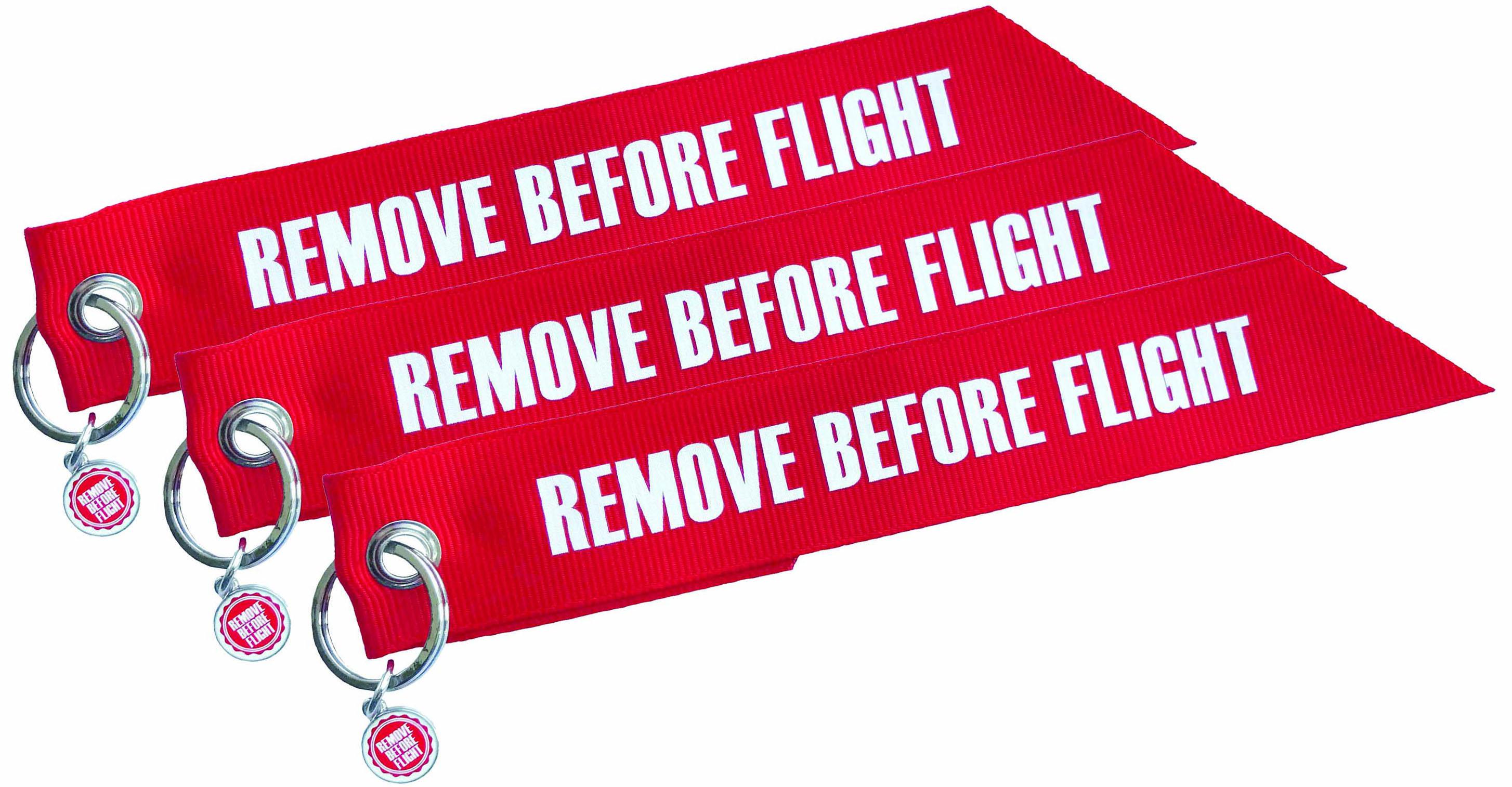RBF-Originals Fähnchen-Schlüsselanhänger Remove Before Flight (Set 3 Stück)