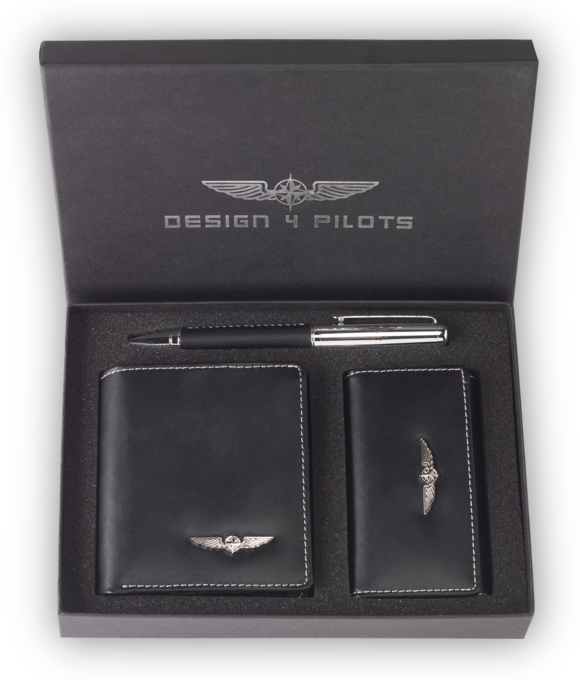 Design4Pilots - Pilot Wallet Set