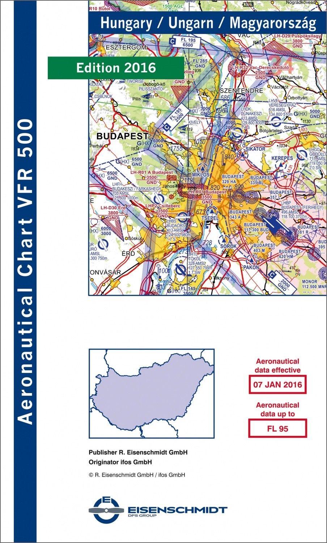 ICAO VFR Flugkarte 500 Ungarn 1:500.000