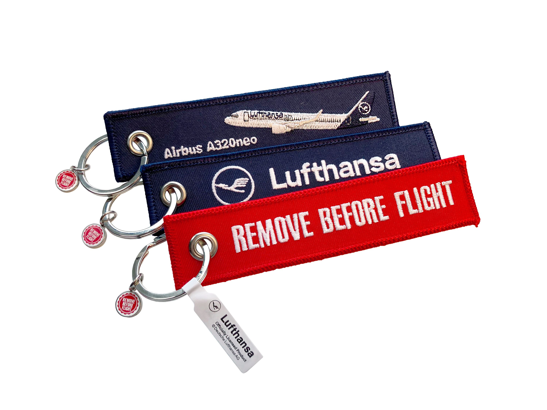 RBF Schlüsselanhänger Lufthansa/Airbus A320/Remove Before Flight 3er-Set