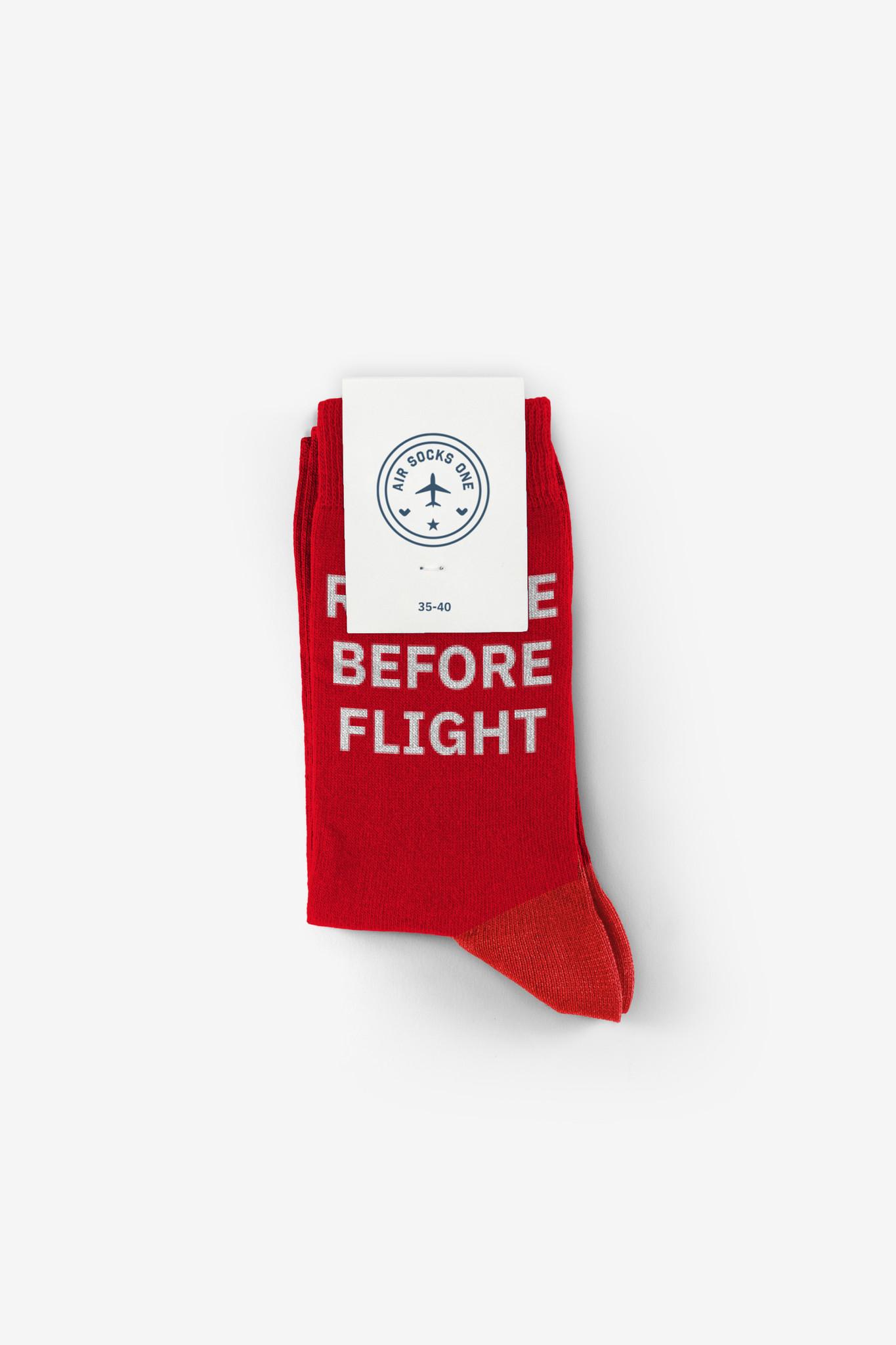 AirSocks Socken Remove before flight