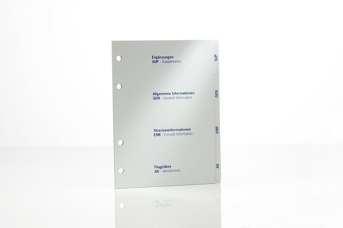 Register für DFS AIP VFR Kunststoff-Ordner
