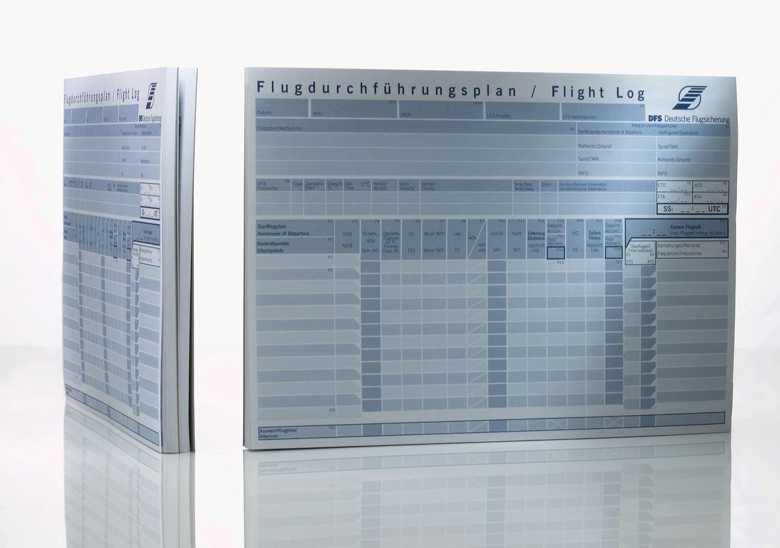 DFS Flugdurchführungsplan-Block A4 50 Blatt