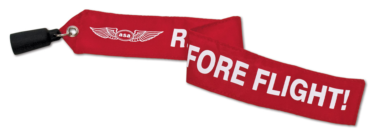 "ASA Staurohrschutz mit Banner ""Remove before flight"""
