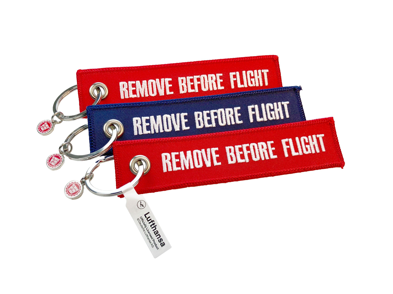 "RBF Schlüsselanhänger ""Lufthansa/Remove Before Flight"" 3er-Set"