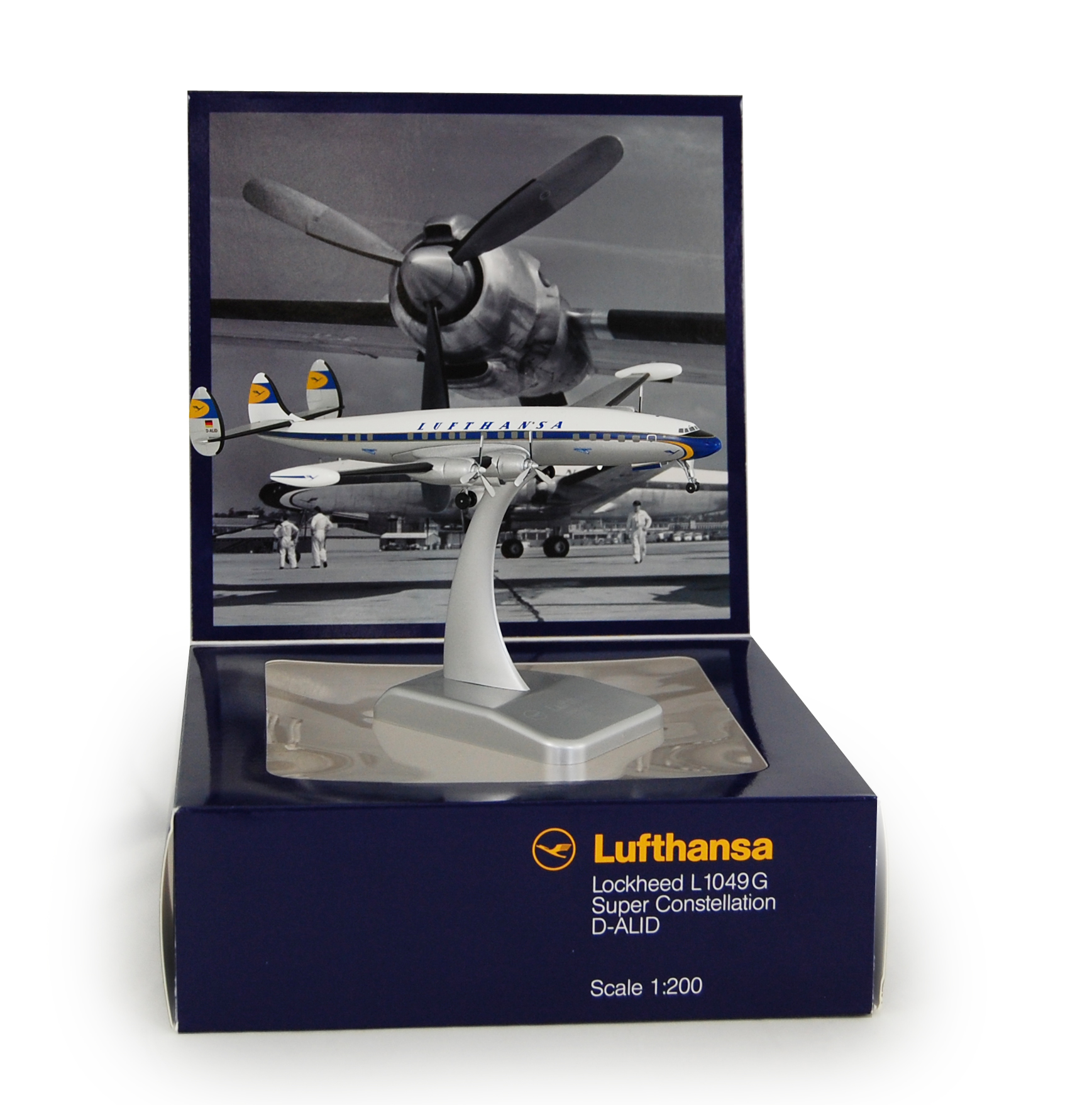Limox Lufthansa Lockheed Super Constellation Maßstab 1:200