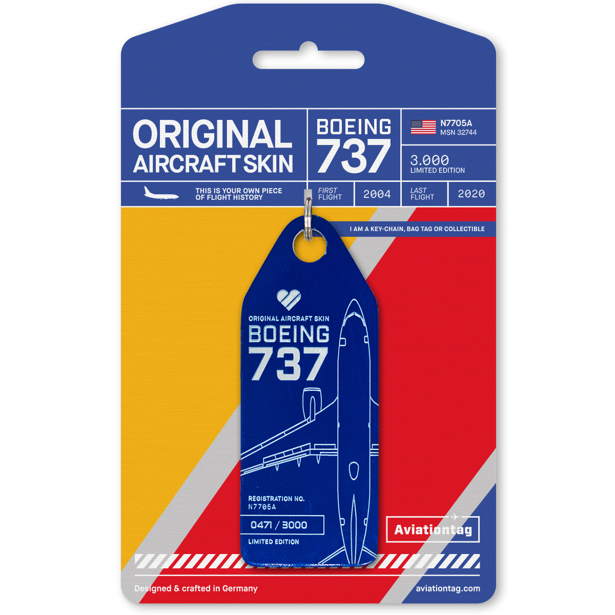 Aviationtag - Southwest Airlines Boeing 737 N7705A