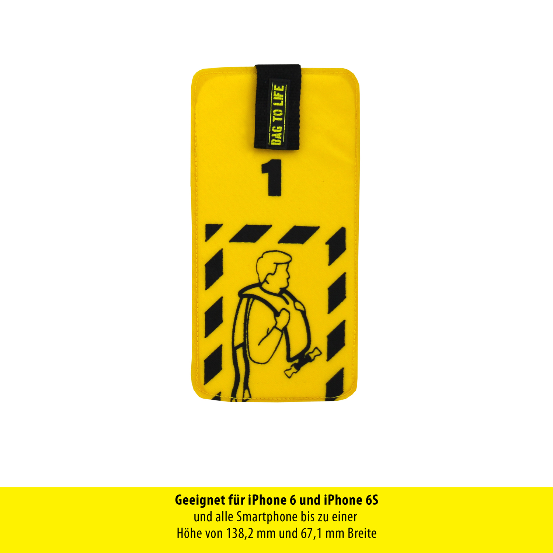 Bag to Life Schutzhülle für Smartphones Check-in mit Größe 15,8 cm x 7,79 cm