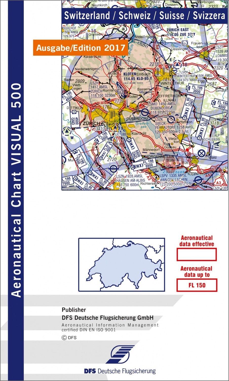 ICAO Flugkarte Visual 500 Schweiz 1:500.000