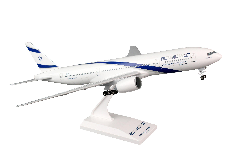 SkyMarks EL AL Airlines Boeing 777-200 mit Fahrwerk Maßstab 1:200