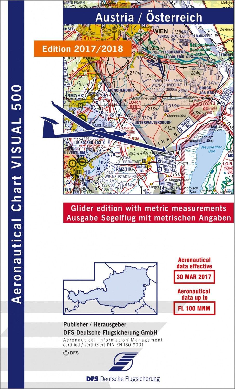 DFS - Visual 500 Segelflugkarte Österreich 2018/19 (1:500.000)