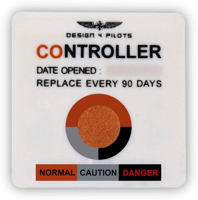 """Design4pilots Kohlenmonoxid-Anzeige """"Pilot Controller"""" 4er-Set"""