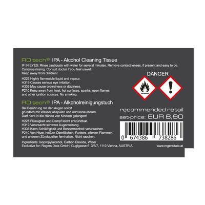 Rogers Data Reinigungstücher für laminierte Flugkarten (10er Set)