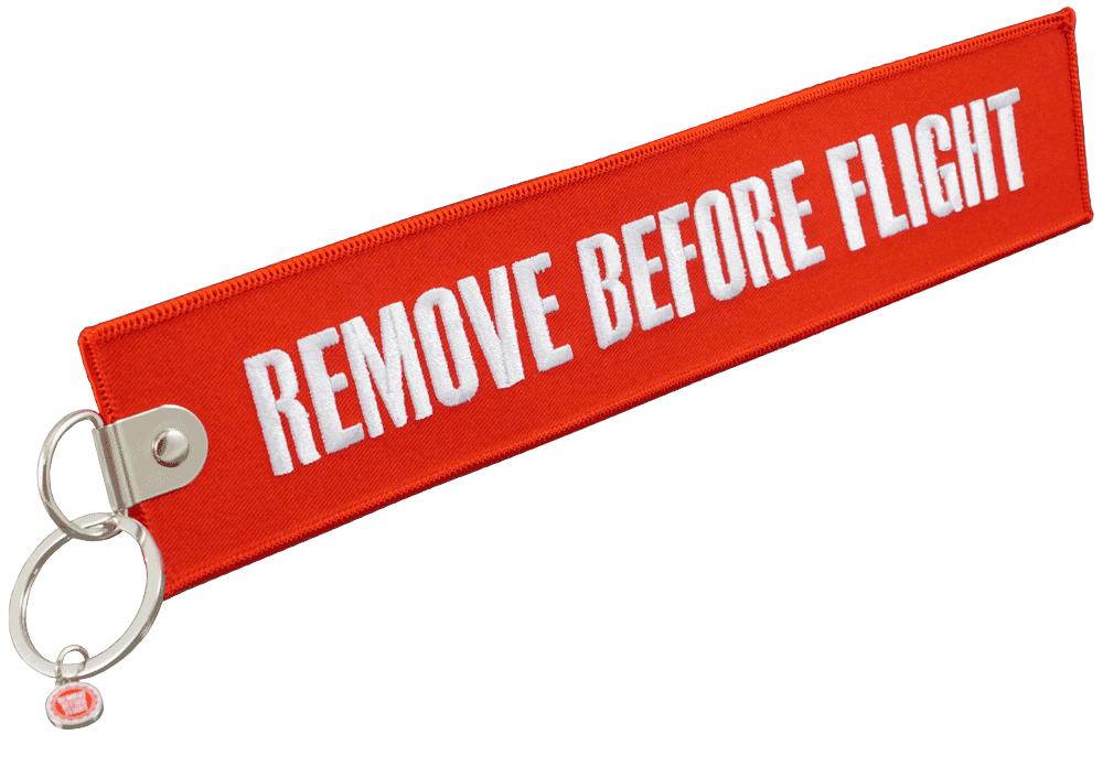 RBF-Originals Jumbo-Schlüsselanhänger Remove Before Flight