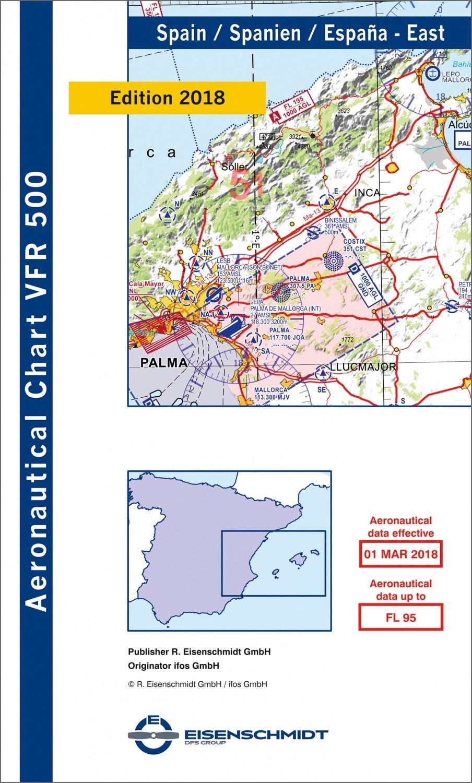 ICAO VFR Flugkarte 500 Spanien, Blatt Ost 1:500.000
