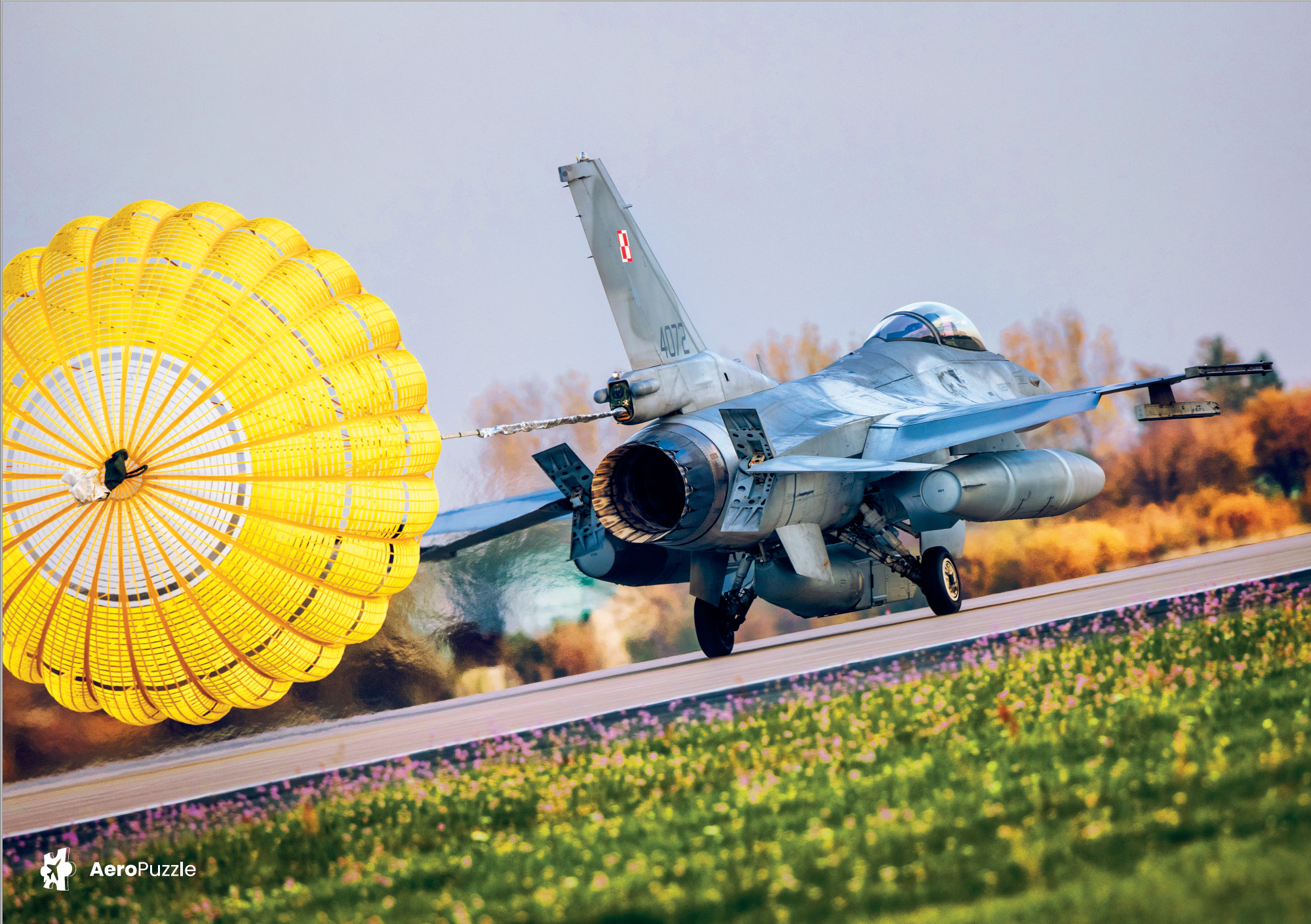 AeroPuzzle plane puzzle - F-16 - Hawk