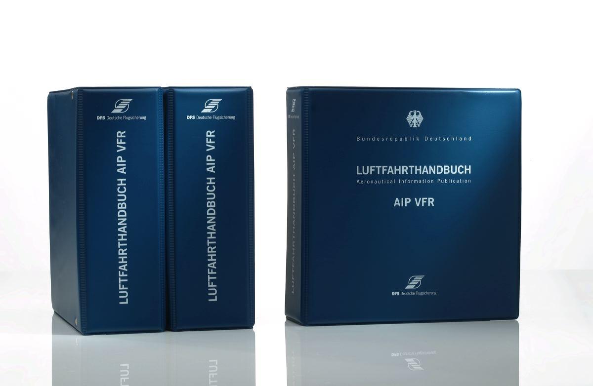 DFS AIP VFR Kunststoff-Ordner breit für Flugkarten