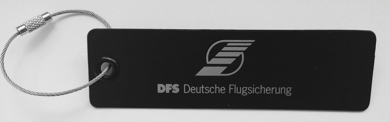 Kofferanhänger mit DFS-Logo