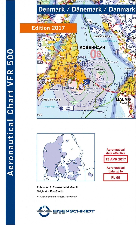 ICAO VFR Flugkarte 500 Dänemark 1:500.000